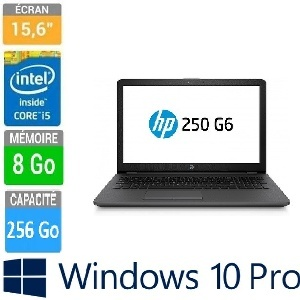 PC PORTABLE 15-6  HP 250 G6 I5-7200U 8GB-256GBSSD W10P64