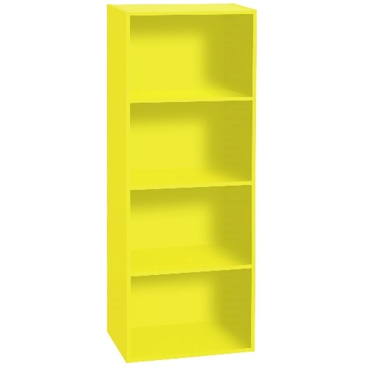BIBLIOTHEQUE 4 CASES KLIK COLORIS JAUNE