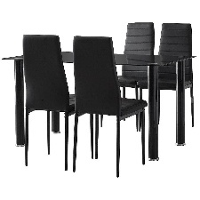 TABLE A MANGER SHAD AVEC 4 CHAISES