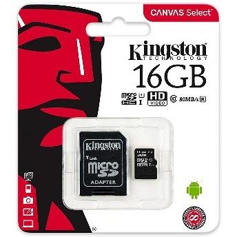 CARTE MICRO-SD 16GO CLASS10 KINGSTON SDCS-16GB
