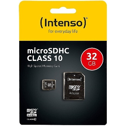 CARTE MEMOIRE 32GO MICRO SDHC10 ADAPT INTENSO