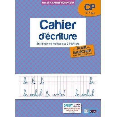 CAHIER D ECRITURE CP 6-7 ANS POUR