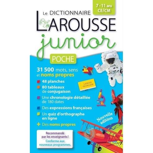 LE DICTIONNAIRE LAROUSSE JUNIOR POCHE - 7-11 ANS CE-CM  BROCHé