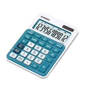 CALCULATRICE DE BUREAU  CASIO MS-20NC BLEU