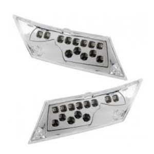 CLIGNOTANT SCOOTER ARRIERE - CHROME A LEDS - G - D
