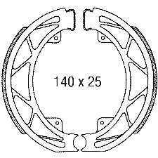 MACHOIRE FREIN SCOOTER - PIAGGIO 50-100 2T-4T