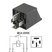 RELAIS DEMARREUR - PIAGGIO 50-125 - 12V-80AH