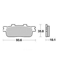 PLAQUETTES DE FREIN - SCOOTER AR - 125 SYM GTS-JOYMAX-JOYRIDE-LXR