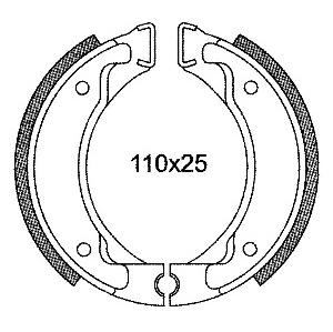 MACHOIRE FREIN SCOOTER - MBK - 110X25