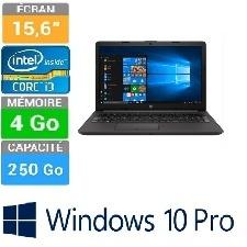 ORDINATEUR PORTABLE HP 250 G7 HD I3-7020U 8GB-256GB WW10P