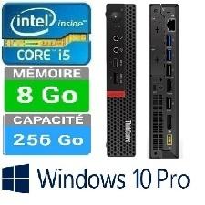 PC LENOVO M720Q TINY I5 I5-8400T 8GO-256GO W10P