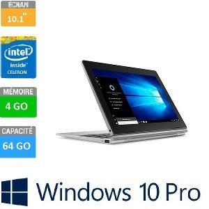"TABLETTE LENOVO 2EN1 10-1"" D330-10IGM CELERON N4000 4GB-64GB TACTILE WIN10 PRO"