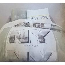 PARURE NEW YORK  HOUSSE DE COUETTE 140X200 CM