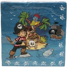 20 SERVIETTES PIRATES