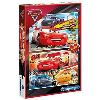CARS 3 PUZZEL 2X60 PIECES