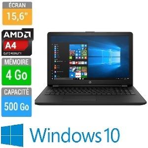 ORDINATEUR PORTABLE 15 HP RB003NK A4-9120-4GB-500GB-W10H