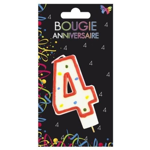 BOUGIE ANNIVERSAIRE CHIFFRE N4