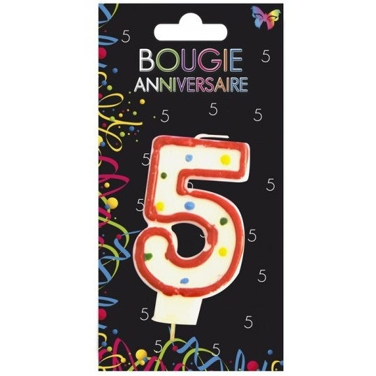 BOUGIE ANNIVERSAIRE CHIFFRE N5