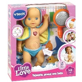 LITTLE LOVE VALENTIN PREND SON BAIN