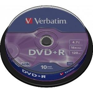DVD R 16X BOITE DE 10 VERBATIM DVDVER00071B