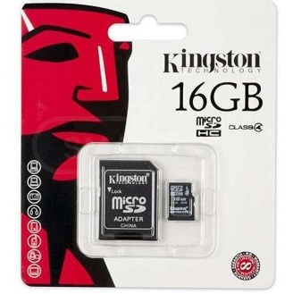 CARTE MÉMOIRE 16GO KINGSTON SDC4-16GB   ADAPT CLASS4