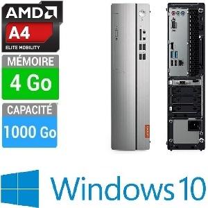 UNITE CENTRALE LENOVO IDEACENTRE 310S-08ASR AMD A4-9125 4GB-1TB AMD RADEON R3 W10 - BLACK