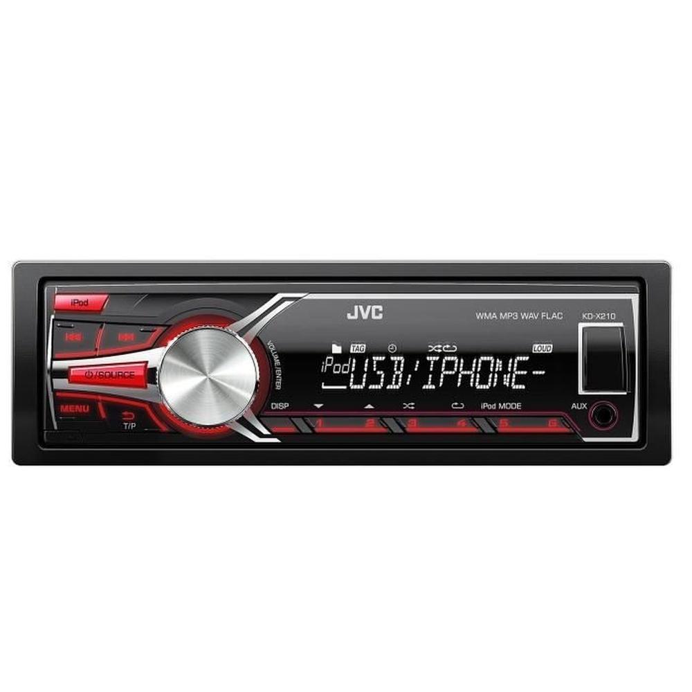 JVC KD-X210E Autoradio USB - Aux - FLAC