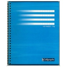 CAHIER 100 PAGES GRANDS CARREAUX CLAIREFONTAINE FORMAT 170* 220 MM