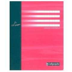 CAHIER 96 PAGES GRANDS CARREAUX CLAIREFONTAINE FORMAT 170*220 MM (PETIT FORMAT)