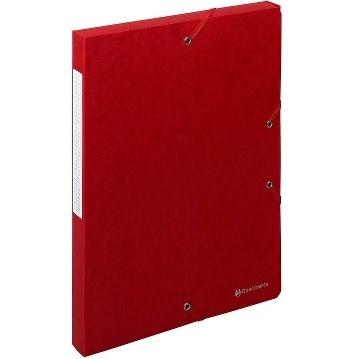 BOITES DE CLASSEMENT SCOTTEN 600 G-M2 FORMAT 240*320 POUR A4 ROUGE DOS 25 MM