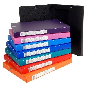 Boites de classement polypro uni format 240*320 pour A4 8 couleurs au choix  - dos 25 mm