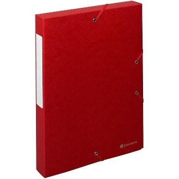 BOITES DE CLASSEMENT SCOTTEN 600 G-M2 FORMAT 240*320 POUR A4 ROUGE - DOS 40 MM