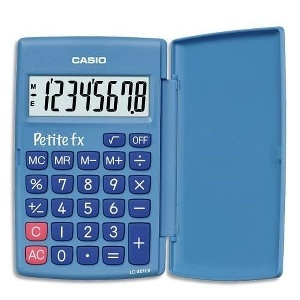 CASIO - CALCULATRICE SCIENTIFIQUE PETITE BLEUE