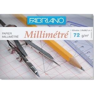 PAPIER MILLIMÉTRÉ FABRIANO FORMAT A4 72G