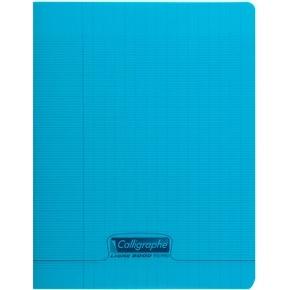 CAHIER 96 PAGES GRANDS CARREAUX CLAIREFONTAINE FORMAT 170*220 MM (PETIT FORMAT) - BLEU