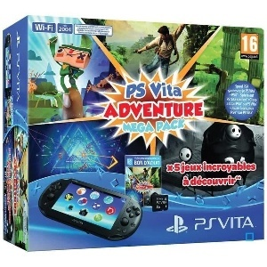 PS Vita Adventure Coupon 5 Jeux PS Vita Carte 8Go
