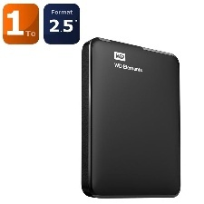 "DIQUE DUR  EXTERNE - WESTERN DIGITAL - 2.5""   1TO USB 3-0"