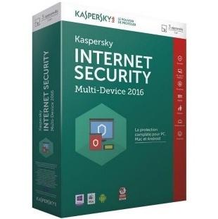 KASPERSKY INTERNET SECURITY 3 POSTES - 1AN