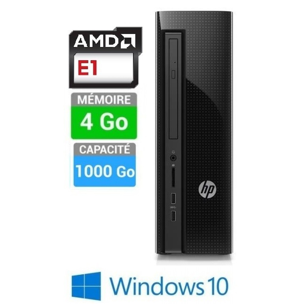 PC HP SLIMLINE 450-A100NF E1-4GO-1TO W10